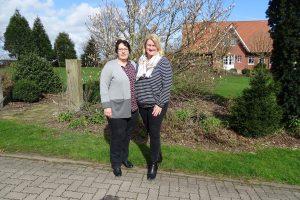 V.r.n.l.: Annette Blume (1. Vorsitzende), Stefanie Friedrich (2. Vorsitzende)